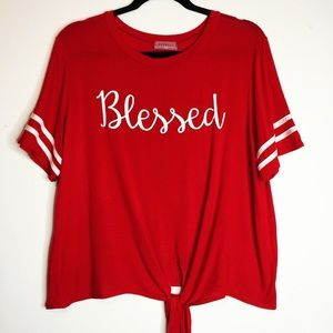 Red shirt XL by Rag Doll -Blessed in white letters